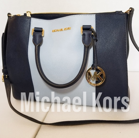 309bff9ee4a670 Michael Kors Bags | Mksutton Large Colorblock Leather Satchel | Poshmark